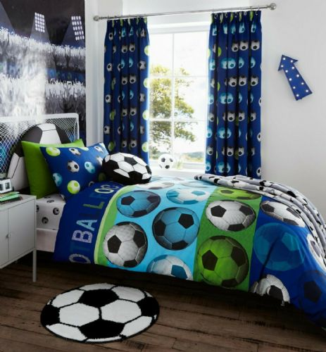 Catherine Lansfield Football Blue Bedding Set